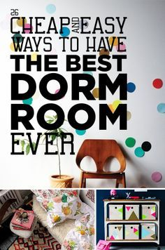 26 Cheap And Easy Ways To Have The Best Dorm Room Ever. Get tons of dorm discounts at http://studentrate.com/School/Deals/DormRoom.aspx