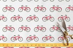 Perfect for your next craft or home decor project, all of our designs are printed on natural fiber fabrics in the United States. Retro bike pattern by Jill Means at minted.com