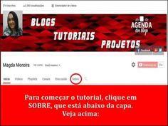Coloque suas Redes Sociais na capa do seu Canal Youtube.