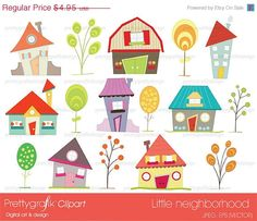 40% OFF House clipart commercial use, vector graphics, digital clip art, digital images - PGCLPK397