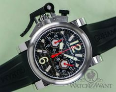 "Graham Chronofighter Oversize ""Gun Metal"" Chronograph - 60% OFF RETAIL"