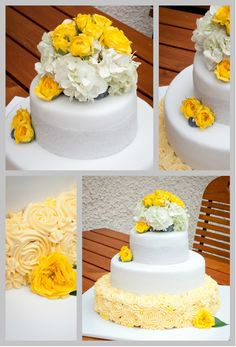 Torten-Kreativ: Der gelb-graue Faden... ***Hochzeitstorte**`*