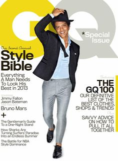 Bruno Mars on GQ! That's my boy!!!