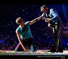 "Chris & Jonny- Coldplay in concert in Boston MA, Summer 2012 during ""In My Place."""