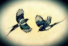 two magpies. <3