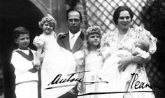 Archduke Anton of Austria with wife Princess Ileana of Romania and their children (L-R) Stefan, Alexandra, Maria Ileana (Minola) and baby Dominic at Dominic's christening, 1937 Rose Kennedy, Caroline Kennedy, Kennedy Jr, Princess Alexandra, Princess Beatrice, Prince And Princess, Isabella Blow, Daphne Guinness, Lee Radziwill