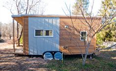 Alek's tiny house measures just 240 square feet and is considered more of an RV than a regular house, meaning it was not subject to building codes. The house was, however, regulated by the Department of Transportation, which mandated that it could be no wider than 8.5 feet and no taller than 13.5 feet. All told, Alek's tiny house cost around $30,000 to build.  Since