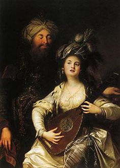 Roxelana and the Sultan. The legendary love between the two inspired European imagination, such as this painting by the German baroque painter Anton Hickel Anton, Sultan Suleyman, Ottoman Empire, Moorish, Artist Names, North Africa, Beautiful Paintings, Art Reproductions, Fine Art