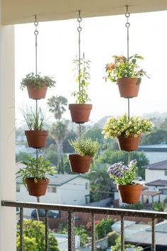 Talk about eye-catching, this idea will make a definite statement on an apartment balcony. Check out more gardening tricks for small spaces.
