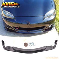 For 01 02 03 04 05 Mazda Miata MX-5 Coupe Convertible Gv Style Front Bumper Lip Spoiler #Affiliate