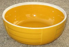 Vintage HALL China Co. Warm Yellow Leftover Dish BOWL–Hotpoint Refrigerator Ware
