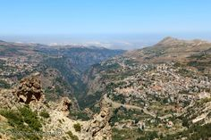 Stunning image of Becharreh with valley
