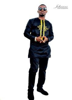 Embroidered Top for Men ~DKK ~African fashion, Ankara, kitenge, African women dresses, African prints, African men's fashion, Nigerian style, Ghanaian fashion.