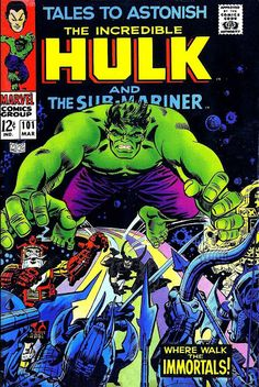 Synopsis: Loki pulls the Hulk to Asgard to fight his father's forces; The Hulk battles the Warriors Three. The Incredible Hulk / comic story / 11 pages. Hulk Comic, Hulk Marvel, Marvel Comics, Marvel Heroes, Marvel Characters, Avengers, Comic Superheroes, Horror Comics, Comic Book Covers