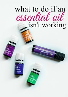 Sometimes one essential oil doesn't work the way you need or expect. These six tips will help you find the solution for your personal essential oil needs.