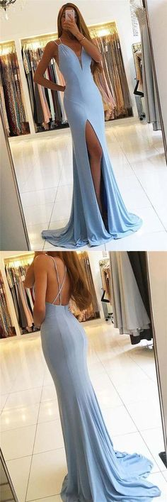prom dresses 2018,  prom dresses 2017,  prom dresses long,  prom dresses long cheap simple,  prom dresses v-neck with split,prom dresses long cheap modest,   #SIMIBridal #homecomingdresses #promdresses