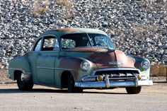 '52 Chevy coupe.. http://www.autoblog.com/2011/10/28/icon-derelict-52-chevy-business-coupe-is-unassuming-masterpiece/