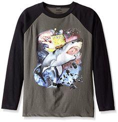 Sponge Bob Boys Long Sleeve T-Shirt 2016 Collection Navy Blue