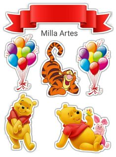 Winnie The Pooh Themes, Winnie The Pooh Cake, Winnie The Pooh Birthday, Winnie The Pooh Friends, Disney Winnie The Pooh, Art Disney, Disney Crafts, Pooh Baby, Label Shapes