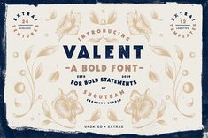 DETAILS Say hello to Valent! A bold font for bold statements! With its thick body and charming serifs, Valent is perfect for vintage inspired retro Bold Fonts, New Fonts, Say Hi, Say Hello, Uppercase And Lowercase Letters, Brush Font, Premium Fonts, Lower Case Letters, Creative Studio