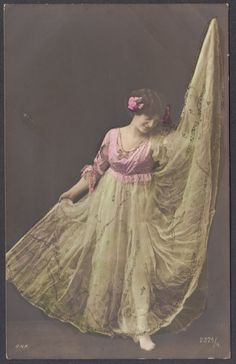 Serpentine Dancer a la Loie Fuller, Posted in 1907 on Etsy, $14.00