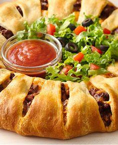 Taco Crescent Ring http://wm13.walmart.com/Cook/Recipes/83928/