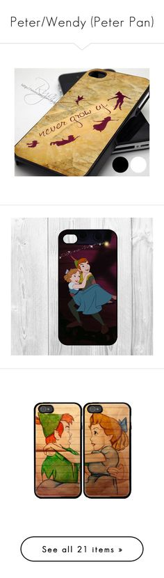 """""""Peter/Wendy (Peter Pan)"""" by angelina-fiorilo ❤ liked on Polyvore featuring accessories, tech accessories, phone cases, phones, disney, cases, phone, iphone, case and clear iphone cases"""