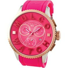 Sales Mulco POST Chronograph Unisex Watch MW3-10302-083 price - Stainless steel case. Silicone strap. Pink dial. Swiss quartz movement. Chronograph. Date. Water resistant 100 meters. Case 52mm. Gender: Unisex Age: Adult Condition:...