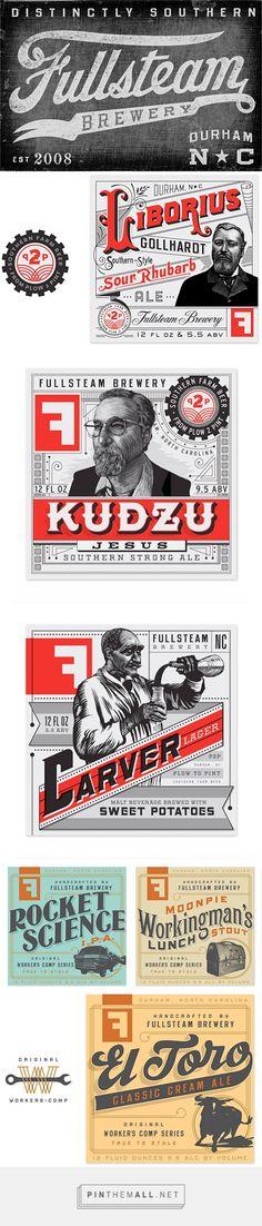 Fullsteam Brewery Branding by Helms Workshop | Inspiration Grid | Design Inspiration - created via https://pinthemall.net
