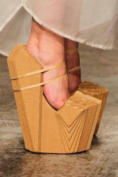 Wooden heels..by iris van herpen