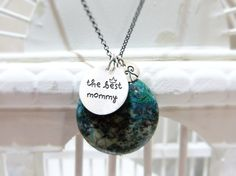 The best mommy - Sterling silver necklace - Positive message. €62,00, via Etsy.
