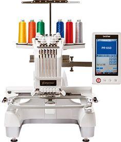 Brother PR650e embroidery machine.