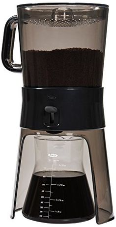 OXO Good Grips Cold Brew Coffee Maker, Clear/Grey OXO http://www.amazon.com/dp/B00JVSVM36/ref=cm_sw_r_pi_dp_8nw7ub0QEKDPX