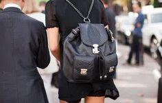 Chic black backpack #2