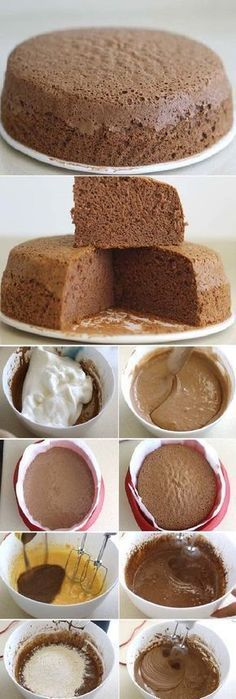 THE SECRET of the spongy chocolate sponge cake so that it stays that way If you like to tell us HELLO and give it to Like preheat the oven to I put my oven at 160 º because it is powerful, so in this case I lowered the … Mexican Food Recipes, Gourmet Recipes, Sweet Recipes, Cake Recipes, Dessert Recipes, Köstliche Desserts, Delicious Desserts, Yummy Food, Pan Dulce