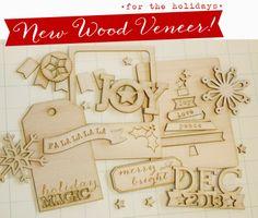 Holiday Wood Veneers  http://shopellesstudio.com