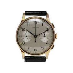 Ulysse Nardin Rose Gold Chronograph Wristwatch circa 1940