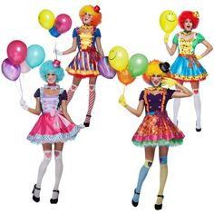Halloween Costumes: Clown Costume Adult Circus Funny Halloween Fancy Dress BUY IT NOW ONLY: $31.99