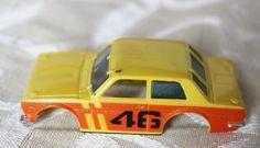 Aurora AFX #46 Bre-Datsun 510 Trans-Am Slot Car, Yellow & Orange Body only