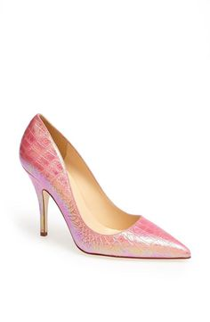 Fun! Pink hologram print pump by Kate Spade.