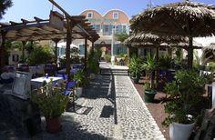 SeaSide Beach Hotel and apartments in Kamari, Santorini, Greece,for a holiday, vacation on a greeck island, sea, beach and sun $95