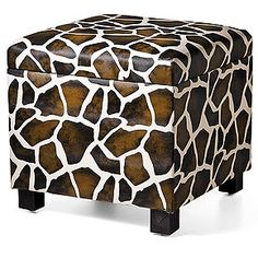 giraffe storage ottoman, $112.50-125, from the Smithsonian Store.