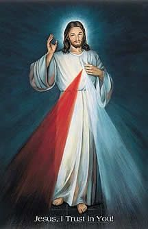 """Three O' Clock, The Hour of Divine Mercy:  """"In this hour you can obtain everything for yourself and for others for the asking; it was the hour of grace for the whole world mercy triumphed over justice"""" (Diary, 1572)."""