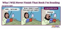 Here's why you will never, ever finish reading that book.