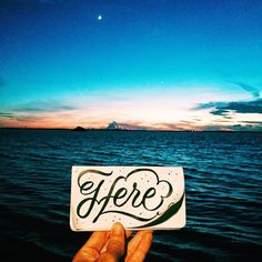 Be Here Now  #letteringonsunday #stpete #behere