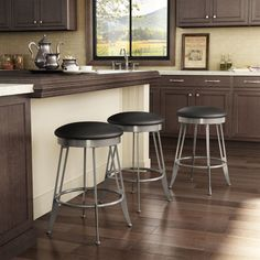 Have to have it. Amisco Phylo Backless Swivel Counter Stool 26 in. - $179.94 @hayneedle