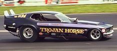 Photo: Dohney & Fullerton Trojan Horse 71 Mustang B&W Funny Car Drag Racing, Nhra Drag Racing, Funny Cars, Vintage Mustang, Drag Bike, Vintage Race Car, Drag Cars, Car Ford, Performance Cars