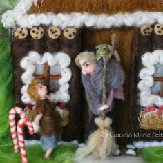 Hansel & Gretel: a Fairy Tale with a DS twist - Children's Book Illustrated in Felted Wool