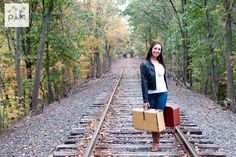 Senior photography in Boston and  central ma by Ashley Nardello , train track photography