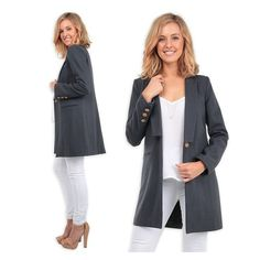 The @lioness_official 'Lioness Your Call Coat in Charcoal' is a timeless blazer-inspired coat. Perfect whether you need to style up or style down. Shop it now for $69.90 at shop.stfrock.com.au #stfrock #lioness #coat #blazer